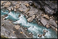 Rapids of the Liwu River from above. Taroko National Park, Taiwan ( color)