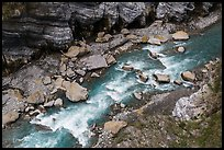 Liwu River rapids from above, Taroko Gorge. Taroko National Park, Taiwan (color)