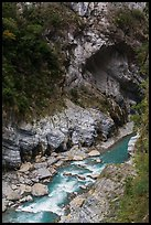 Liwu River gorge, Taroko Gorge. Taroko National Park, Taiwan (color)