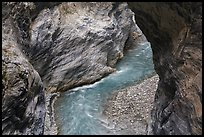 Marble walls of Taroko gorge. Taroko National Park, Taiwan (color)