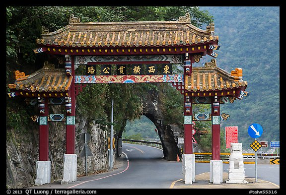 Entrance gate. Taroko National Park, Taiwan (color)