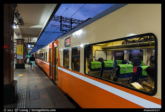 Train, Hualien Station. Taiwan (color)