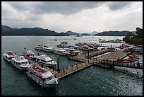Shueishe Pier, afternoon. Sun Moon Lake, Taiwan (color)