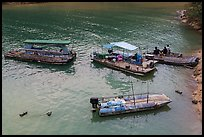 Boats and fishermen. Sun Moon Lake, Taiwan ( color)