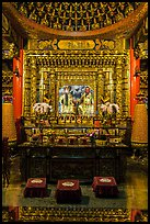 Altar in main hall, Wen Wu temple. Sun Moon Lake, Taiwan ( color)