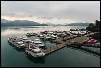 Shueishe Pier, early morning. Sun Moon Lake, Taiwan ( color)