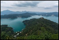 Lake seen from Tsen Pagoda. Sun Moon Lake, Taiwan (color)