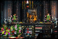 Altar with Black-Faced Matsu, Tienhou Temple. Lukang, Taiwan ( color)