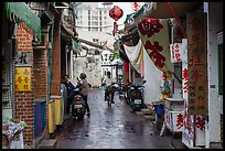Alley in early morning. Lukang, Taiwan (color)