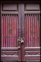 Door and paddlock. Lukang, Taiwan ( color)