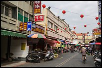 Street near market. Lukang, Taiwan (color)