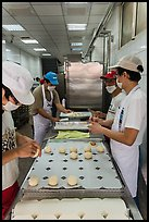 Workers in dumpling bakery. Lukang, Taiwan ( color)