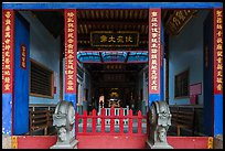 Temple painted red and blue. Lukang, Taiwan ( color)