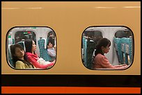Trail passengers see through windows. Taiwan (color)