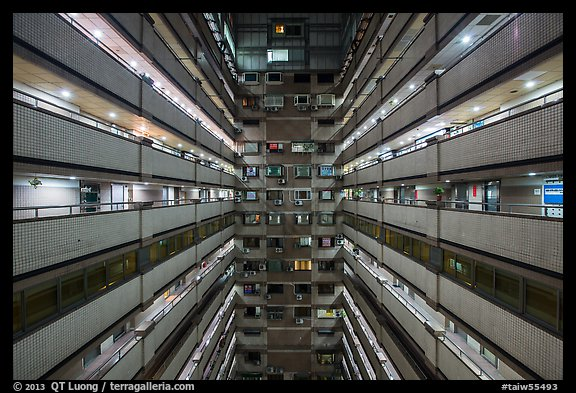 Inside of high rise building. Taipei, Taiwan (color)