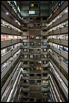 Atrium of high rise building. Taipei, Taiwan (color)