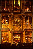 La Chaloupe d'or tavern, former tailors guild house, Grand Place, night. Brussels, Belgium ( color)