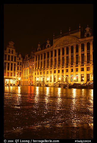 Grand Place at night. Brussels, Belgium (color)