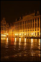 Grand Place at night. Brussels, Belgium ( color)