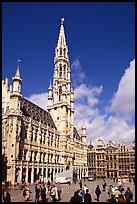 Grand Place and town hall. Brussels, Belgium (color)