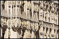 Detail of the gothic town hall facade. Brussels, Belgium ( color)
