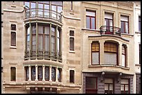 Hotel Tassel, an Art Nouveau townhouse. Brussels, Belgium (color)