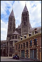 Notre Dame Cathedral, in romanesque style. Tournai, Belgium ( color)