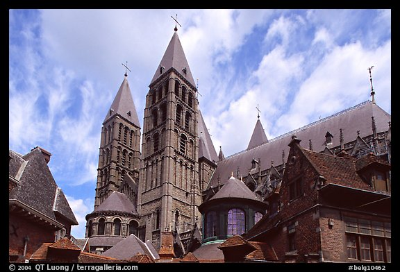 Notre Dame Cathedral. Tournai, Belgium (color)