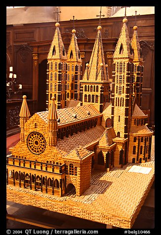 Model of Notre Dame Cathedral. Tournai, Belgium (color)