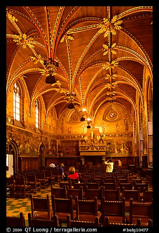 Gotische Zaal of the Stadhuis. Bruges, Belgium (color)