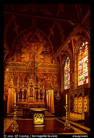 Upper Chapel of the Heilig-Bloedbasiliek (Basilica of Holy Blood). Bruges, Belgium (color)