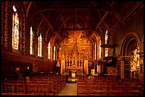 Upper Chapel of the Basilica of Holy Blood (Heilig-Bloedbasiliek). Bruges, Belgium (color)