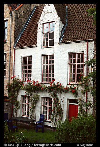 House by the canal. Bruges, Belgium (color)