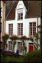 House by the canal. Bruges, Belgium