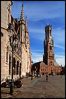 Belfry and Provinciaal Hof. Bruges, Belgium (color)
