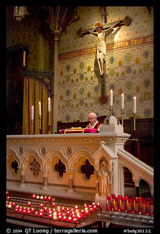 Priest during the Holy Blood liturgy. Bruges, Belgium