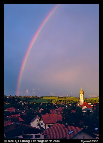 Rainbow over Nesselwang. Bavaria, Germany (color)