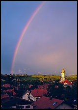 Rainbow over Nesselwang. Germany ( color)