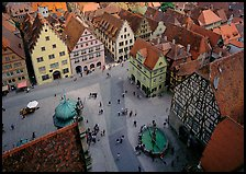 Marktplatz seen from the Rathaus tower. Germany ( color)