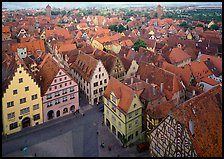 Panoramic view of the city. Rothenburg ob der Tauber, Bavaria, Germany ( color)