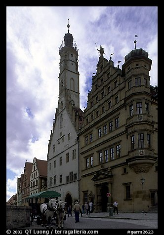 Rathaus. Rothenburg ob der Tauber, Bavaria, Germany (color)