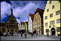Marktplatz. Rothenburg ob der Tauber, Bavaria, Germany (color)