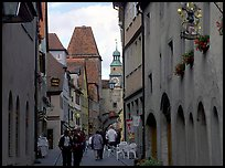 Old street. Rothenburg ob der Tauber, Bavaria, Germany (color)