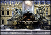 Fountain in front of the Residenz. Wurzburg, Bavaria, Germany (color)