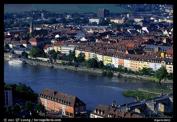 The Main River. Wurzburg, Bavaria, Germany (color)