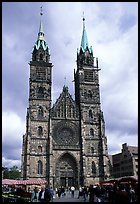 Sankt Lozenz Kirche (cathedral). Nurnberg, Bavaria, Germany ( color)
