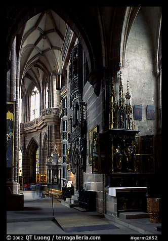 Interior of Sankt Lozenz Kirche. Nurnberg, Bavaria, Germany