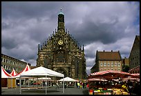 Liebfrauenkirche (church of Our Lady) and Hauptmarkt. Nurnberg, Bavaria, Germany ( color)
