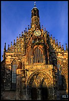 Liebfrauenkirche (church of Our Lady). Nurnberg, Bavaria, Germany (color)