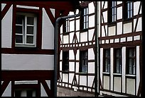 Timbered houses. Nurnberg, Bavaria, Germany (color)
